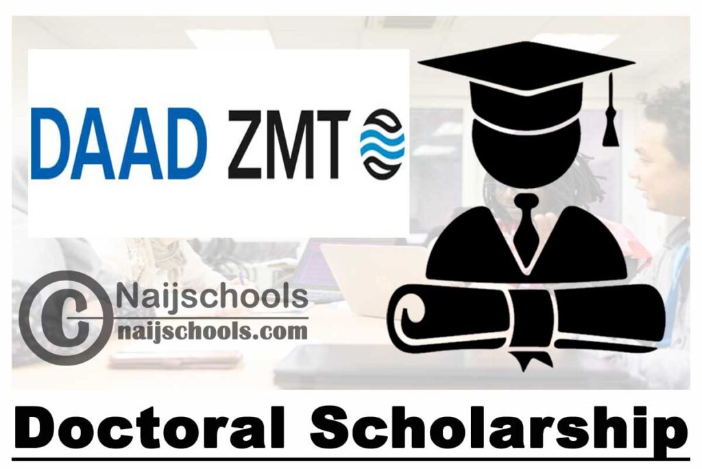 ZMT DAAD Doctoral Scholarship