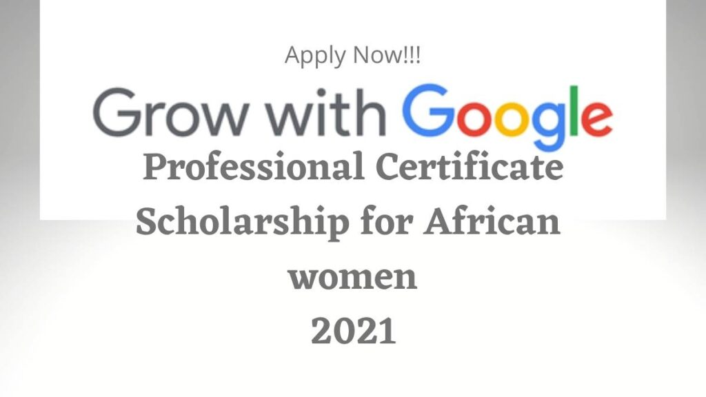 Grow With Google Professional Certificate Scholarship