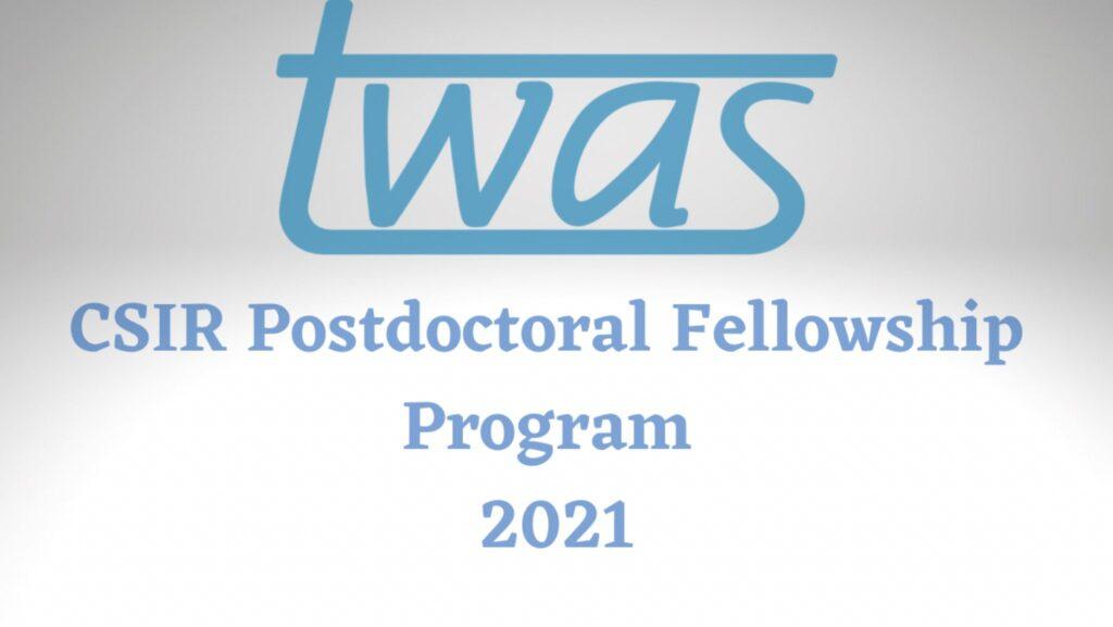 TWAS-CSIR Postdoctoral Fellowship