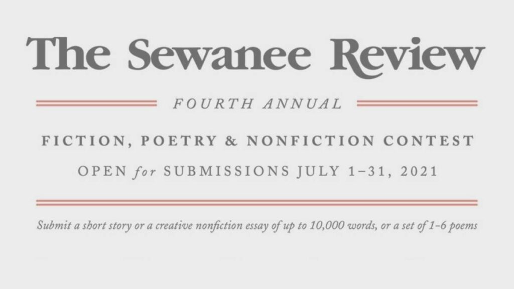 Sewanee Review Fourth Annual Contest 2021