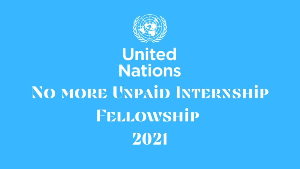No More Unpaid Internship Fellowship