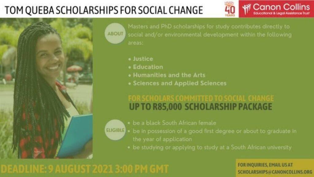 Tom Queba Scholarships 2022