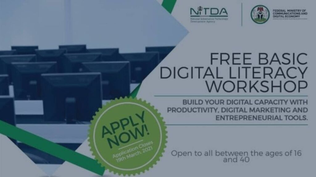 NITDA Digital Literacy And Skill Training 2021