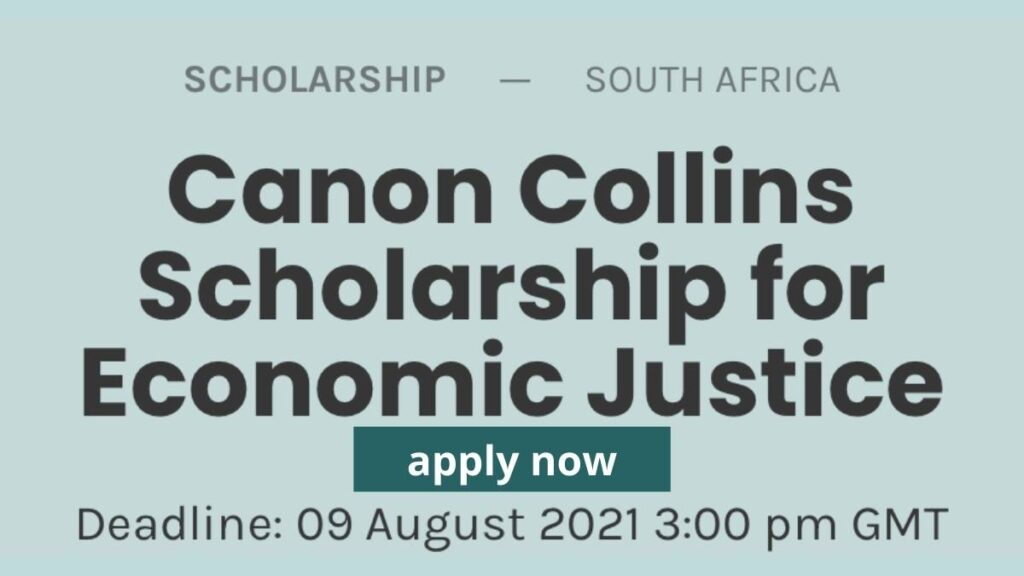 Canon Collins Scholarship For Economic Justice 2022