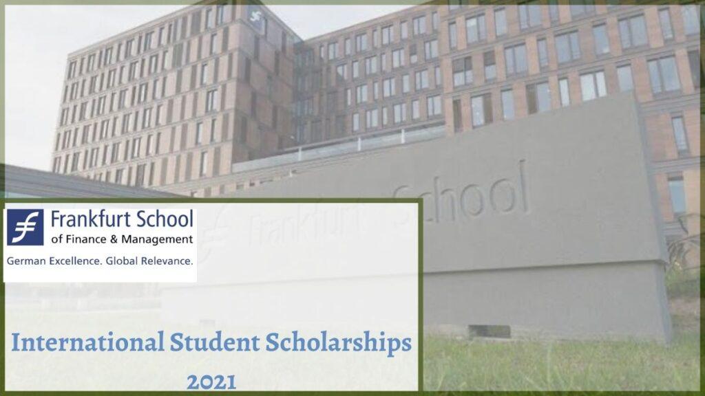 Frankfurt School Of Finance And Management International Student Scholarships