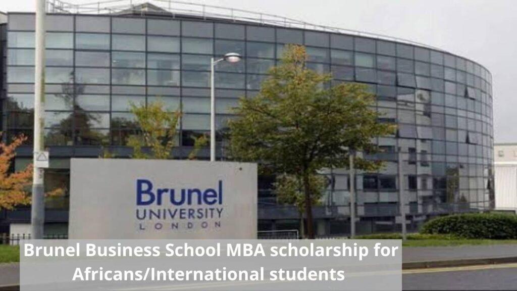 Brunel Business School MBA Scholarship