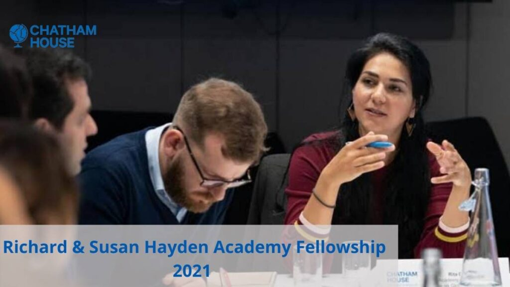 Richard And Susan Hayden Academy Fellowship 2021