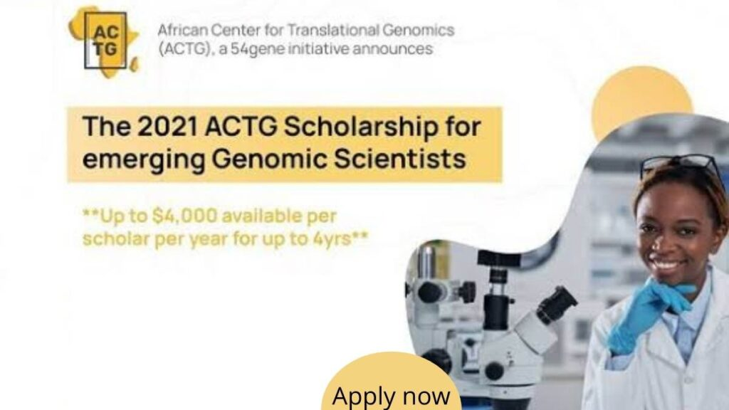 ACTG Academic Scholarship For African Scientists 2021/2022