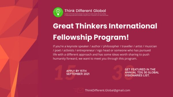 Great Thinkers Fellowship 2021