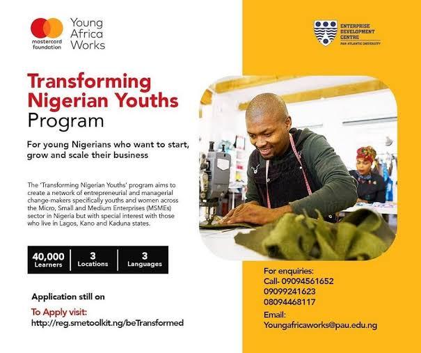 Mastercard Transforming Nigerian Youths Program 2021