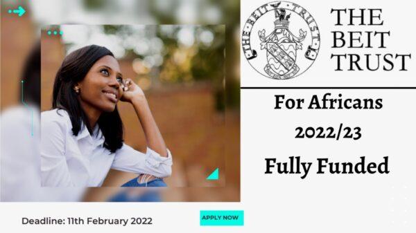 Beit Trust Postgraduate Scholarships 2022/23