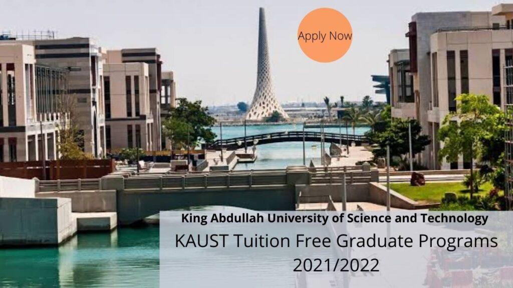 KAUST Tuition-Free Graduate Programs 2021