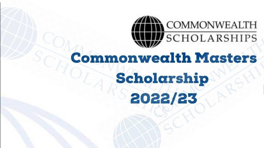 Commonwealth Masters Scholarship 2022/23
