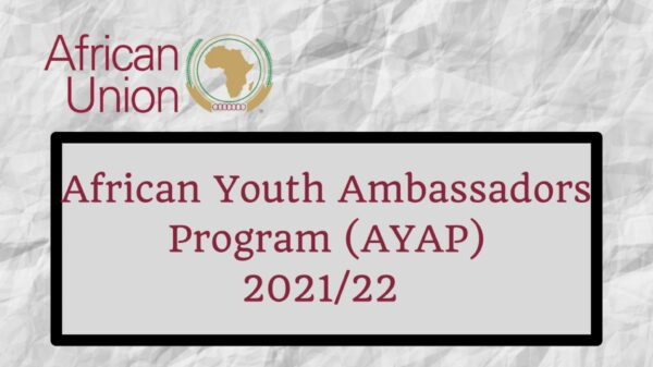 AU African Youth Ambassadors For Peace Program 2021/22