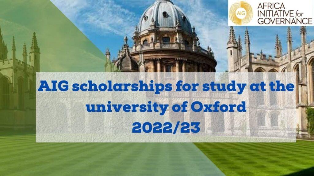 AIG Scholarships 2022/23