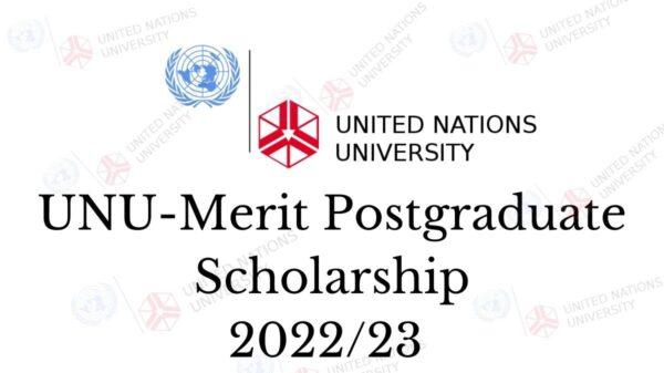 UNU-MERIT Postgraduate Scholarship 2022/23