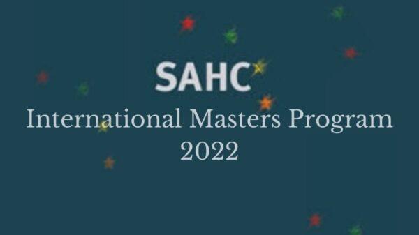 SAHC International Masters Program 2022